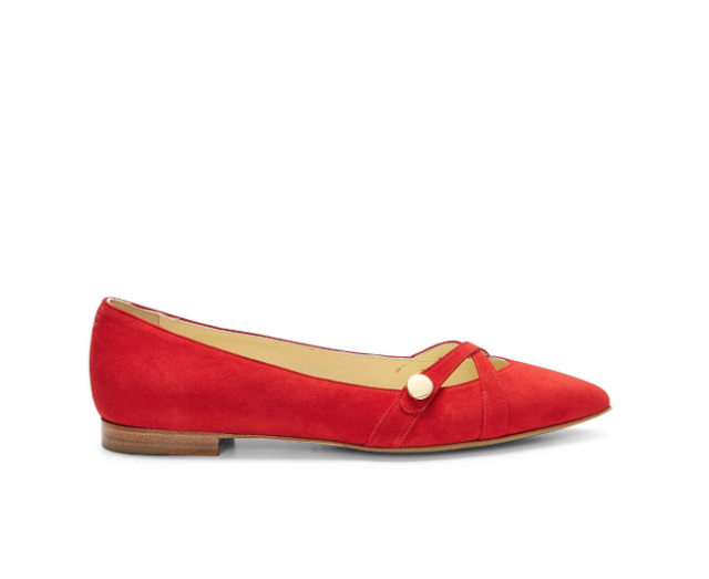 Cindy Crawford x Sarah Flint red flats