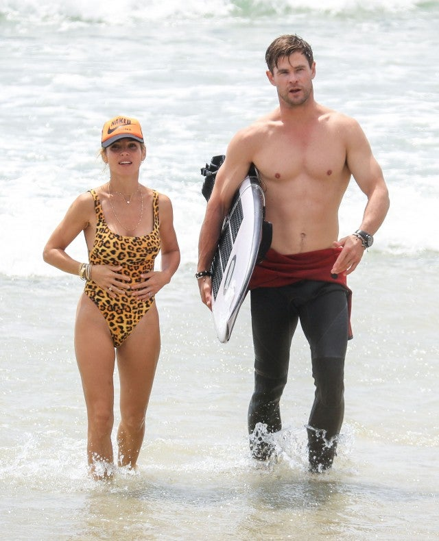 Chris Hemsworth And Wife Elsa Pataky Show Off Their Fit Physiques