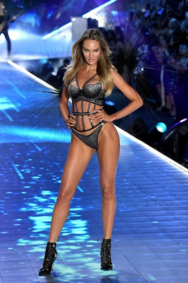 ca846e54f33 Candice Swanepoel walks the runway at the 2018 Victoria s Secret Fashion  Show in New York on