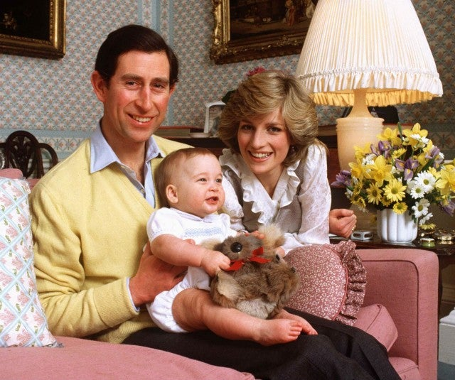 Charles, Diana and Villiam