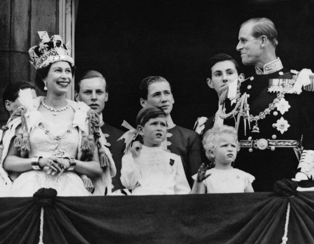 The crowning of Queen Elizabeth
