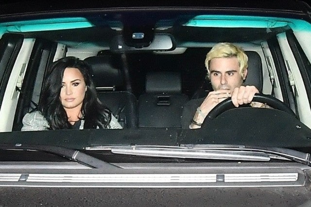 Demi Lovato and Henry Levy out to dinner on Nov. 4, 2018.