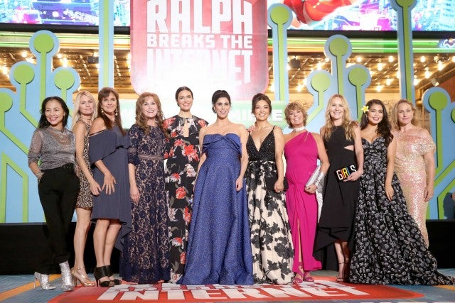 Disney princess voice actors come together at the 'Ralph Breaks the Internet' premiere in Hollywood on Nov. 5