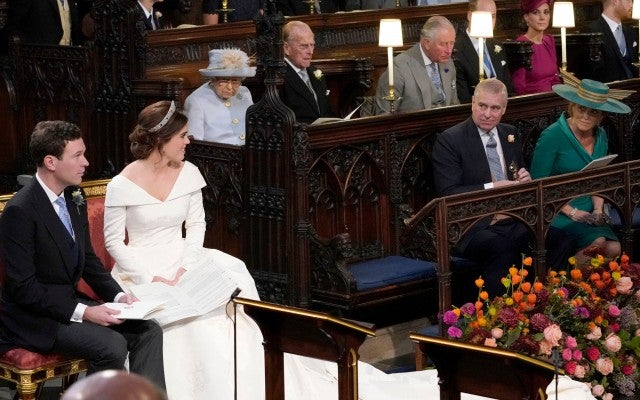 Princess Eugenie and Parents at Her Wedding