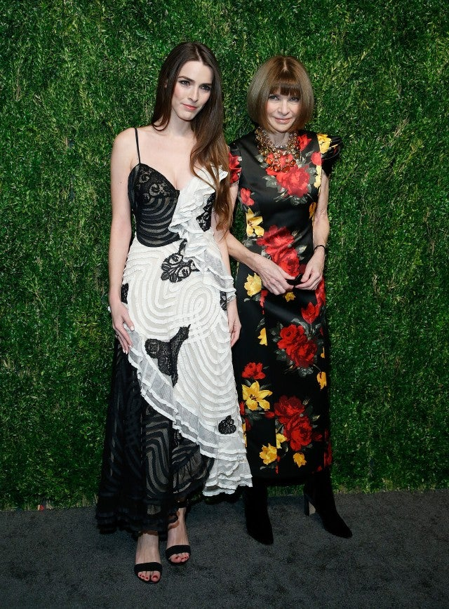 Bee Shaffer and Anna Wintour CFDA event