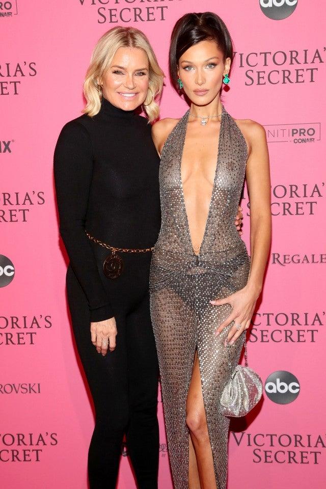 Yolanda and Bella Hadid at Victoria's Secret After Occasion