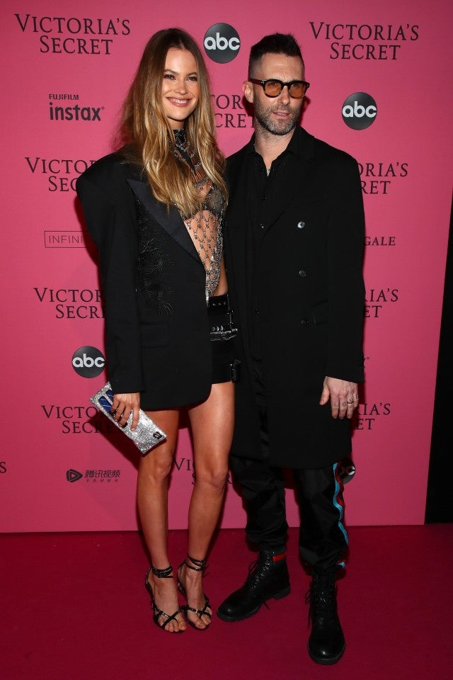 Behati Prinsloo and Adam Levine at vs fashion show afterparty