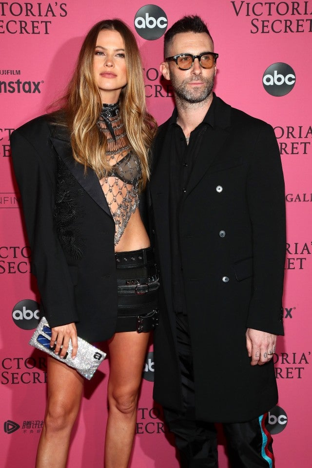Behati Prinsloo and Adam Levine at Victoria's Secret After Occasion