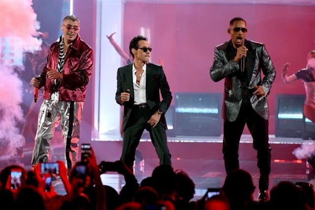 Marc Anthony Will Smith Bad Bunny Latin Grammys