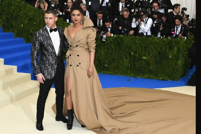 Priyanka Chopra and Nick Jonas at 2017 Met Gala