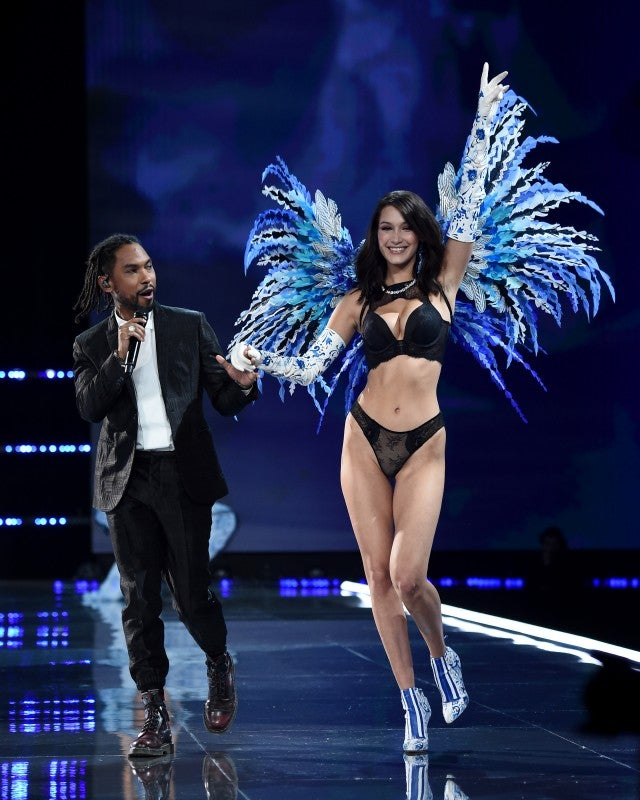 Bella Hadid and Miguel at VS Show 2017