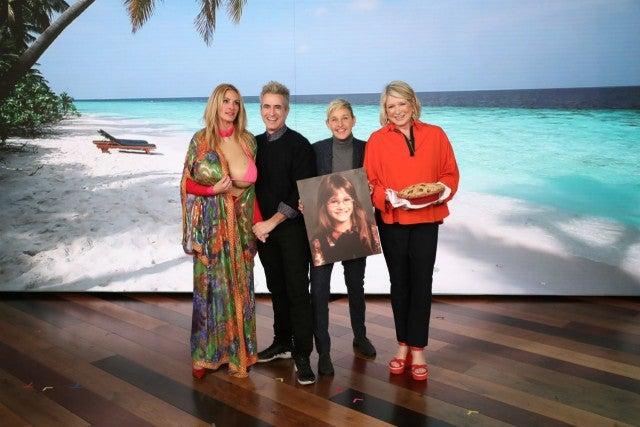 Julia Roberts, Dermot Mulroney, Ellen DeGeneres, Martha Stewart