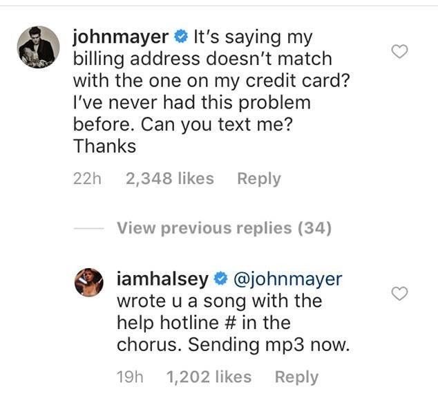 John Mayer, Halsey