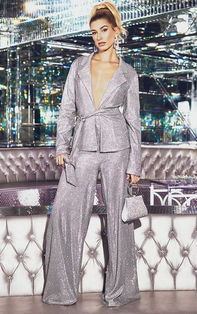 Hailey Baldwin Sparkles At Her Holiday Collection Launch