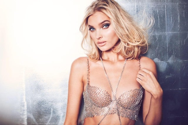 Elsa Hosk Models Victoria's Secret Fantasy Bra 2018