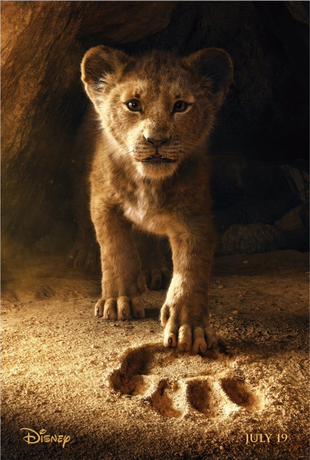 The first poster for 'The Lion King' live-action film.