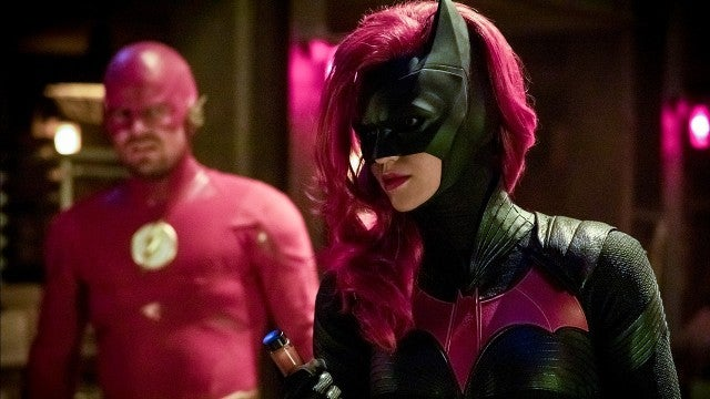 Ruby Rose as Batwoman and Stephen Amell as The Flash