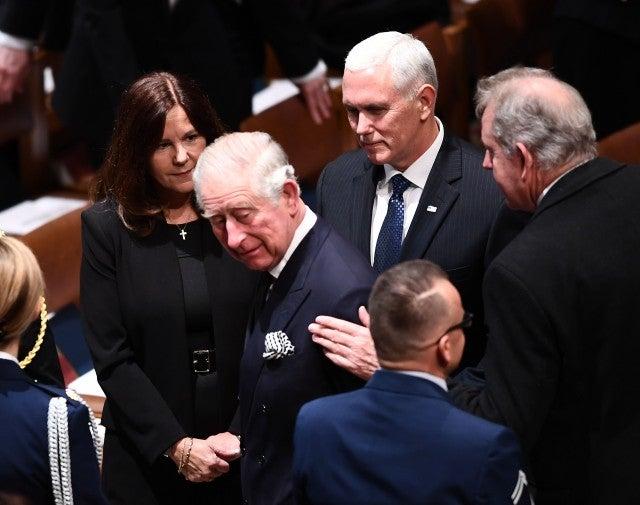 Karen Pence, Prince Charles and Mike Pence