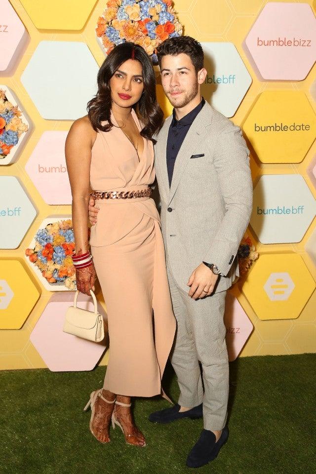 Priyanka Chopra and Nick Jonas at Bumble India launch