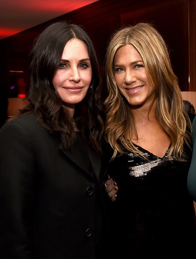 Courteney Cox and Jennifer Aniston at Dumplin premiere
