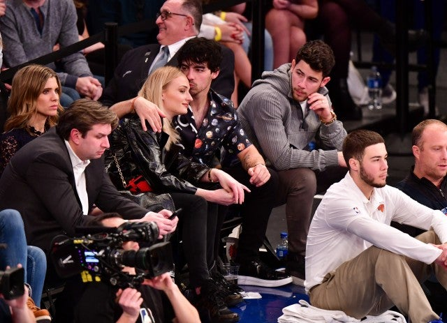 Nick Jonas Joe Jonas Sophie Turner Basketball Game