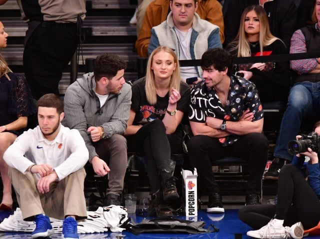 Nick Jonas, Sophie Turner and Joe Jonas Basketball Game