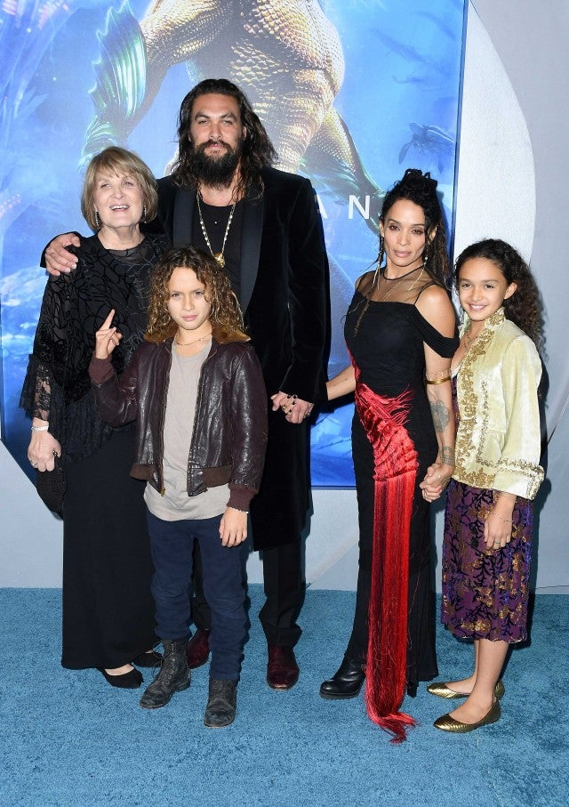 Jason Momoa and his family at the 'Aquaman' premiere at the Chinese Theatre in Hollywood on Dec. 12