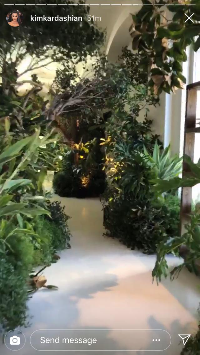 Kim Kardashian Transforms Home Into A Jungle For Saint And