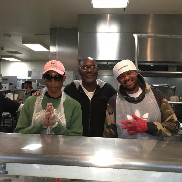 Pharrell Williams, Vincent Herbert L.A. Mission Christmas Eve