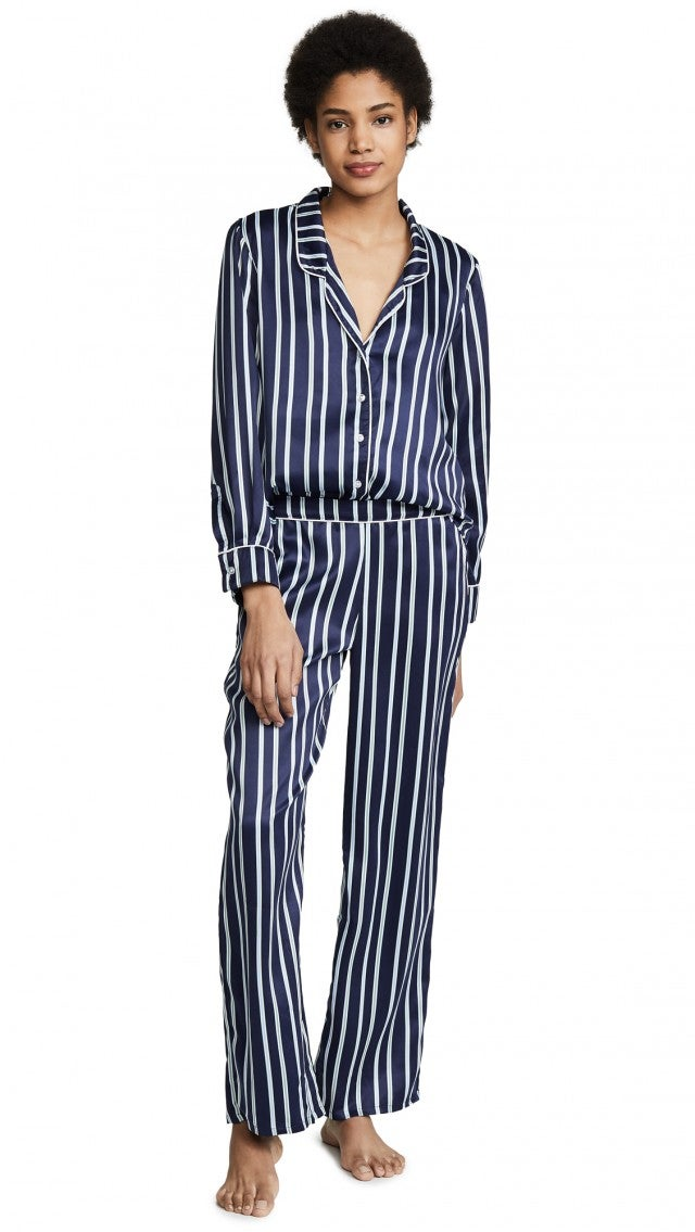 Splendid striped satin PJ set