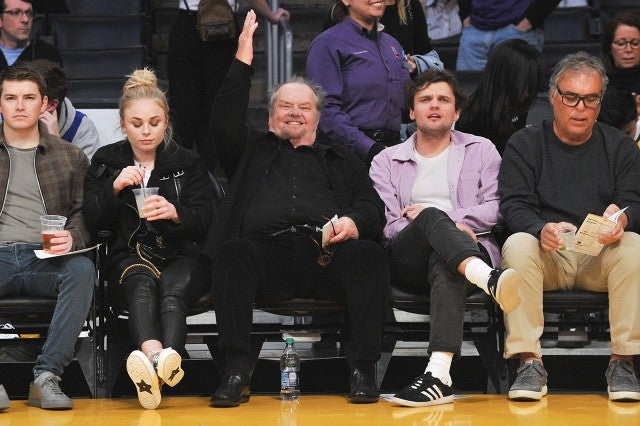 jack nicholson ray lakers game
