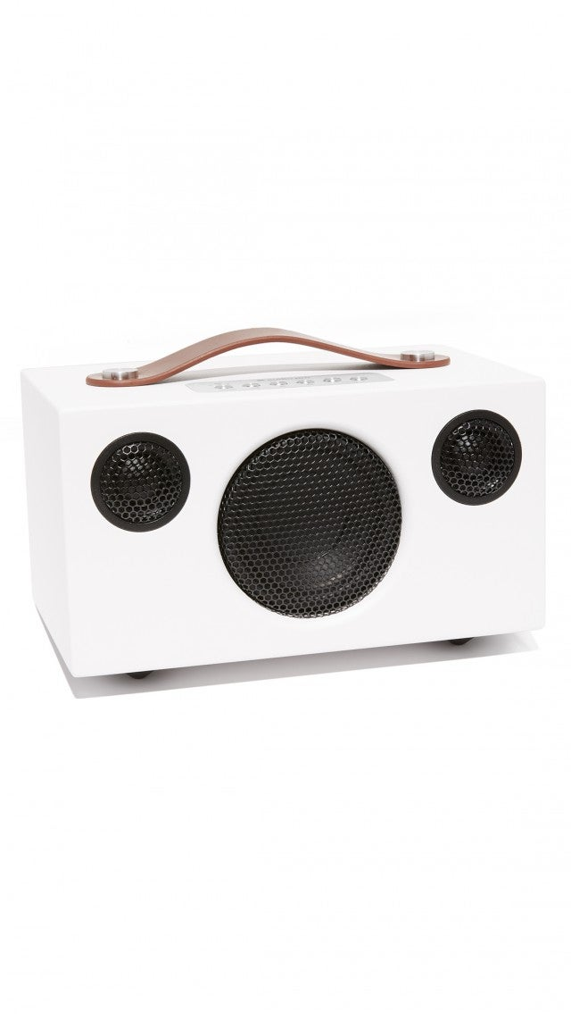 Audio Pro white speaker