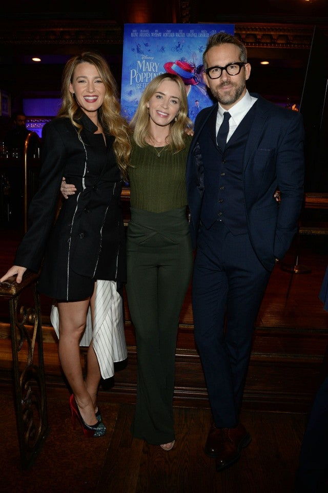 Blake Lively, Emily Blunt, Ryan Reynolds