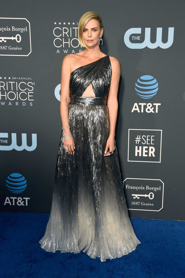 Charlize Theron at the 2019 Critics' Choice Awards in Santa Monica on Jan. 13