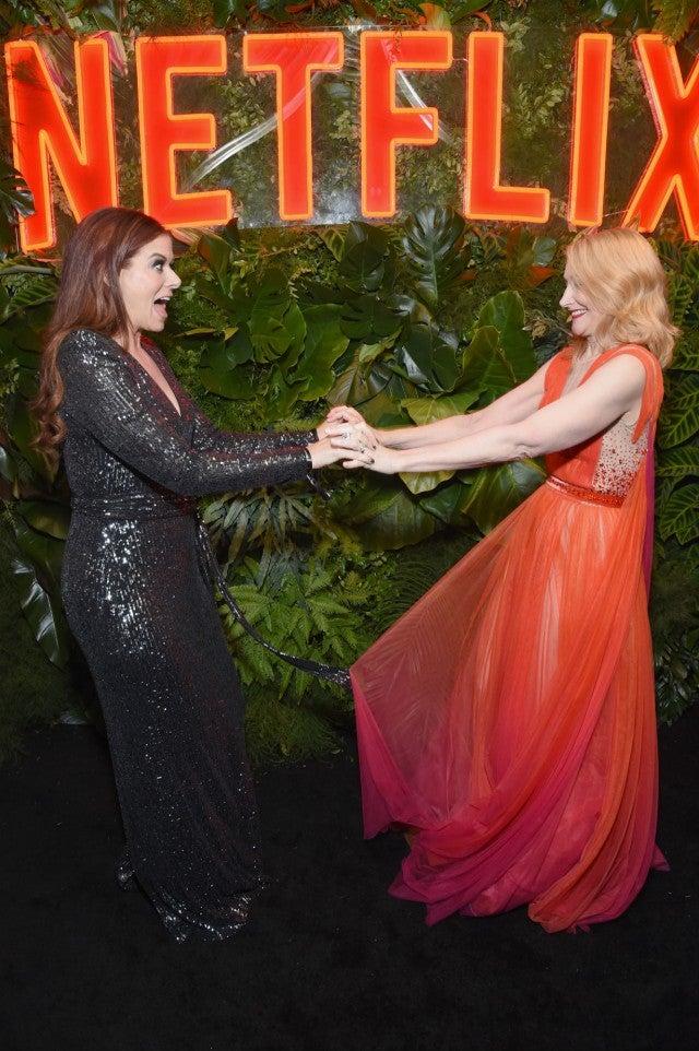 Debra Messing and Patricia Clarkson