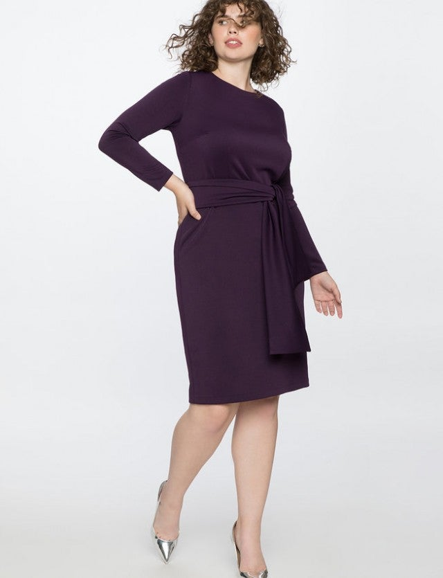 Eloquii purple midi dress
