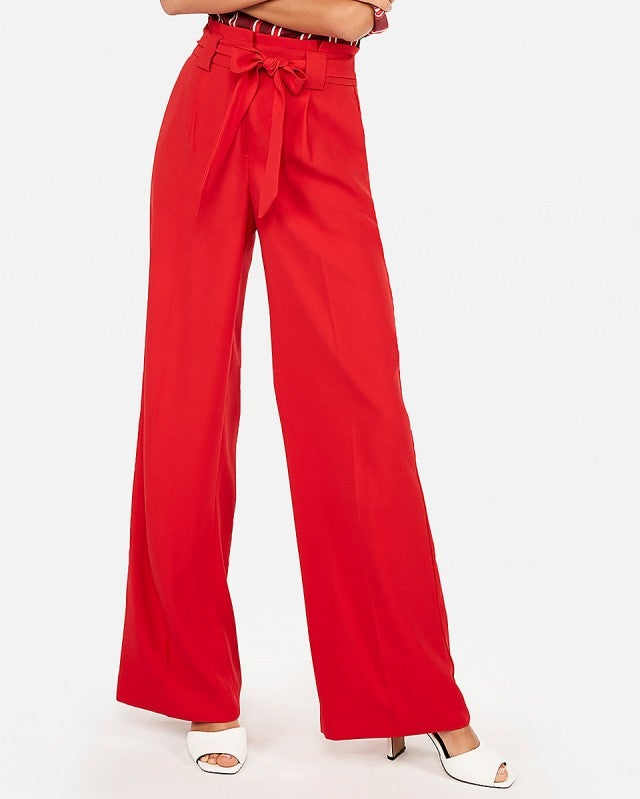 Express red wide-leg pant