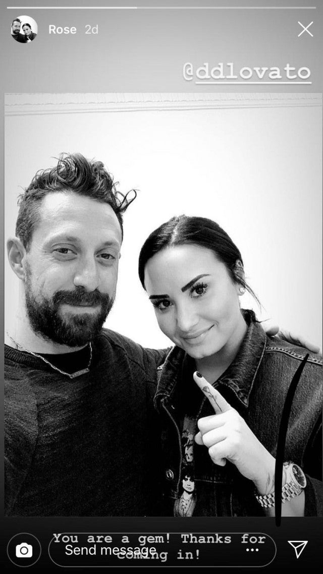 01f49c3e7 Demi Lovato. Instagram. Lovato's latest tattoo comes right after she  celebrated six months of sobriety ...