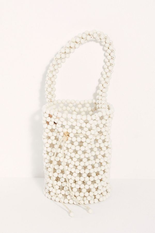 Free People white beaded bag