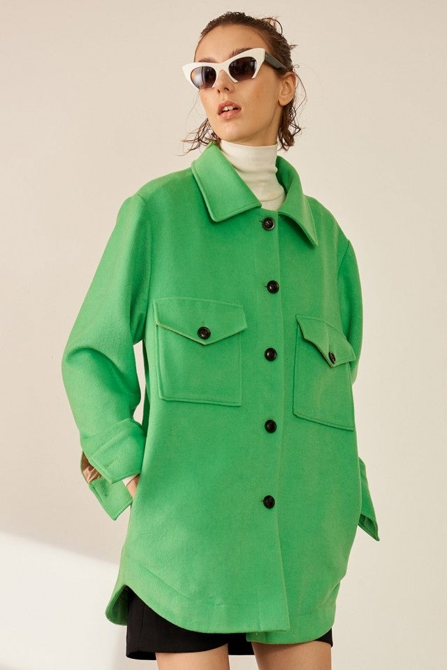 Front Row Shop green coat