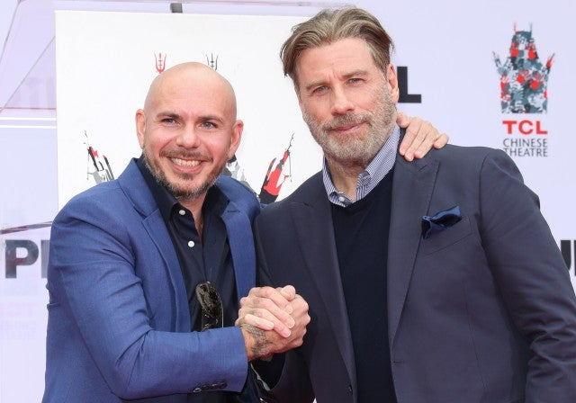 pitbull and john travolta