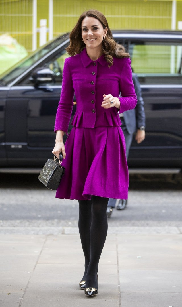 Kate Middleton purple skirt suit at Royal Opera House