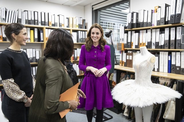 Kate Middleton at Royal Opera House costume department