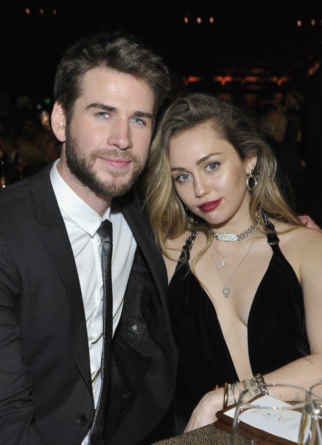 Liam Hemsworth and Miley Cyrus at 2019 g'day usa gala