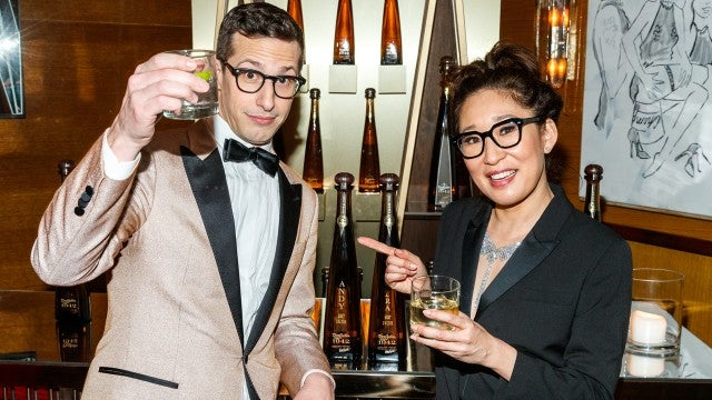 Sandra Oh Andy Samberg Golden Globes After Party