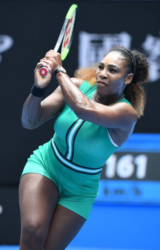 8cdbb99fb005 Serena Williams Wears Fishnets During Australian Open Match...