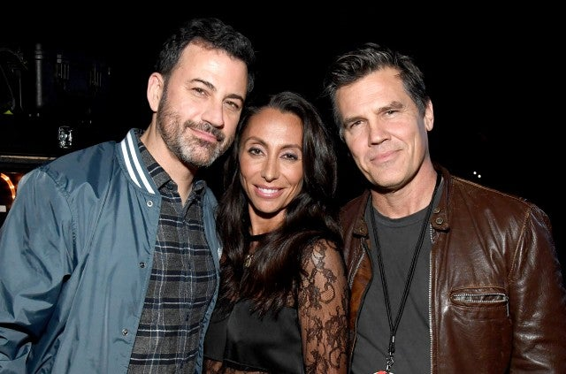 Jimmy Kimmel, Vicky Cornell and Josh Brolin