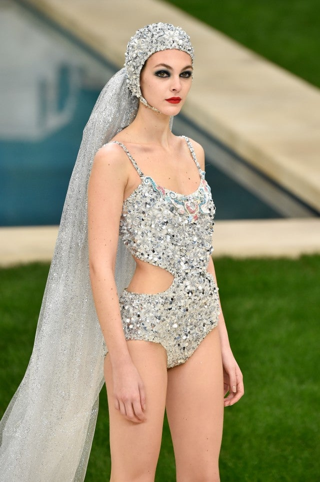 Chanel couture bridal swimsuit