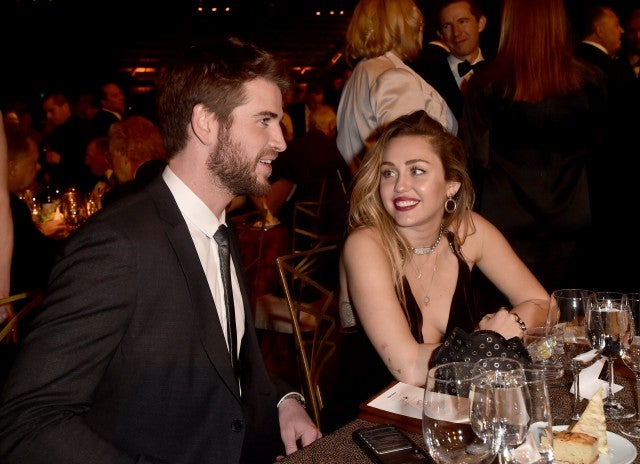 Liam Hemsworth and Miley Cyrus G'DAY USA