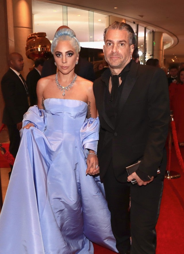 Lady Gaga and Christian Carino arrive to the 76th Annual Golden Globe Awards held at the Beverly Hilton Hotel on January 6, 2019.